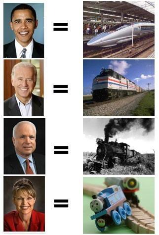 Obama_Biden_McCain_Palin-as-trains