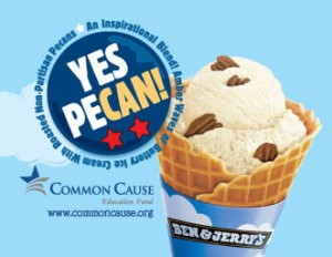 Ben & Jerry Yes Pecan Ice Cream Poster
