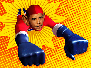 Obama Super Hero Comic Style