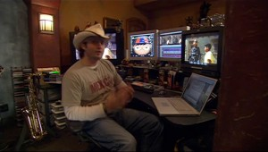 Director Robert Rodriguez Mac Editing System with Laptop