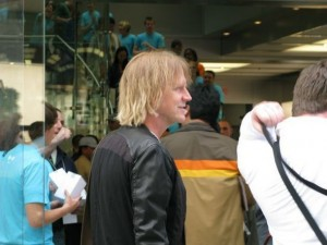 Aerosmith bassist Tom Hamilton at Boston Apple Store
