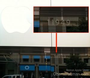 Apple Store Reston Town Center, actually at 11949 Market St, Reston VA?