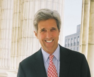 John Kerry, Massachusetts Senator At U.S. Capitol columns