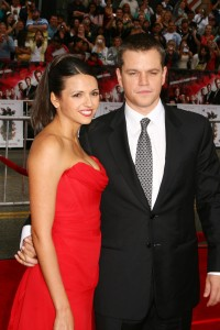 Luciana and Matt Damon