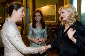 Cristina Kirchner, Madonna, & Nobel Peace Prize nominee former Colombia Senator Ingrid Betancourt