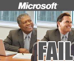 Microsoft race-swap photoshop fail