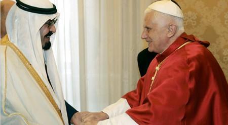 Pope Benedict Meets Saudi King Abdullah bin Abdul Aziz Al Saud at Vatican