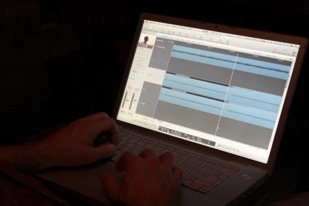 Star Wars Uncut soundtrack edited on a Mac (Apple MacBook Pro)