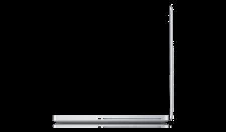 Apple MacBook Pro 15.4 inch laptop profile side view