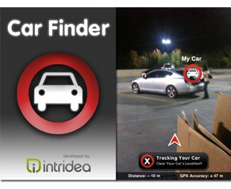 Augmented reality iPhone app, Car Finder
