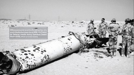 Desert Storm Destroyed Iraqi Scud Missile