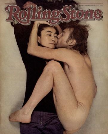 Rolling Stones cover john lennon yoko ono, by Annie Leibovitz