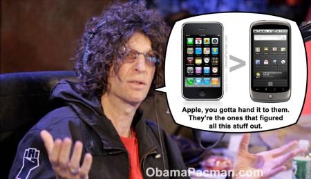 Howard Stern Sees Nexus One as Unoriginal, sees Apple iPhone as true innovator