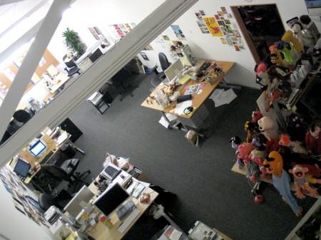 JibJab Office has many Macs and Apple Cinema Displays 4056
