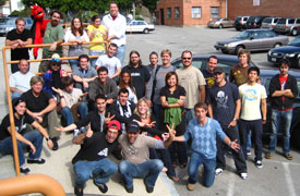 JibJab team, 35 person company