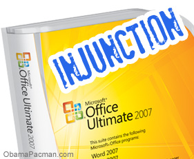 Microsoft office word court ordered injunction i4i