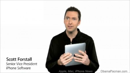 Scott Forstall, Senior Vice President, iPhone Software, Apple iPad mac tablet video