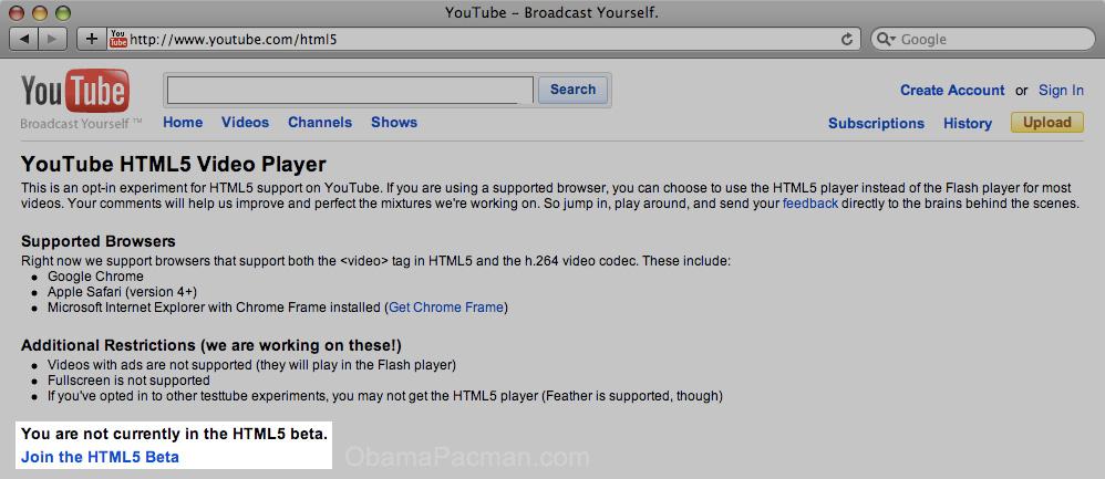 hate inefficient flash google provides html5 youtube. Black Bedroom Furniture Sets. Home Design Ideas