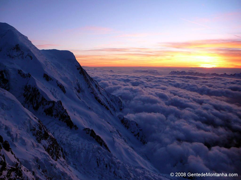 Sunset at Mont Blanc, ...