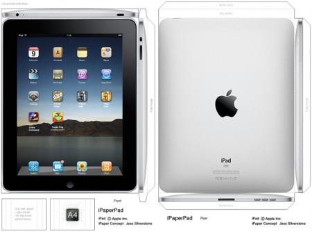 1. DIY iPad Papercraft Mockup, improved, Apple Tablet V2 iPapercraft, blocky