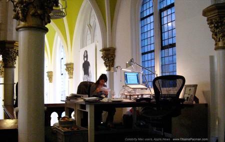 Apple MacBook Pro, architecture ceiling, KesselsKramer HQ, Church of Mac Creative Agency