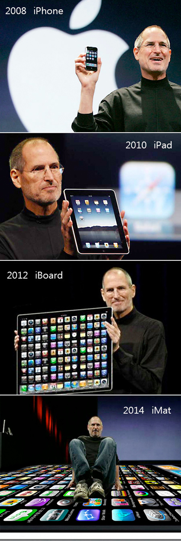 Apple iPad iPhone Evolution 2012 2014, humor