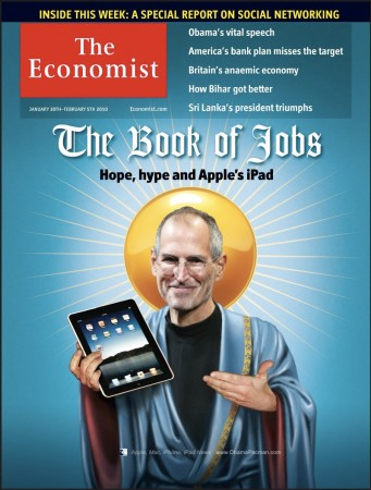 Book of Jobs, Apple CEO Steve Jobs iPad tablet Photoshop, Economist Cover