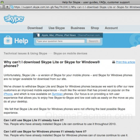Skype Withdraws VOIP Apps From Microsoft WiMP, Windows Mobile Phones