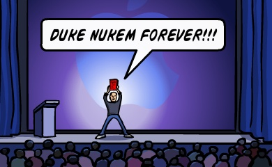 Steve Jobs keynote bomb, releases Duke Nukem Forever
