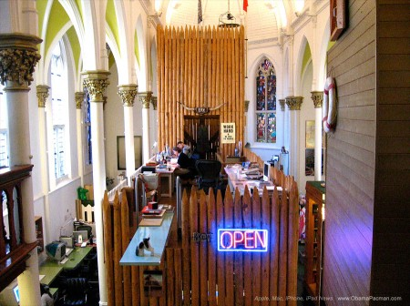 Surreal church fort, Work hard, be nice to people, KesselsKramer HQ, Church of Mac Creative Agency