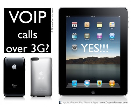 VOIP Phone calls over 3G iPad, iPhone, iPod touch apple apps