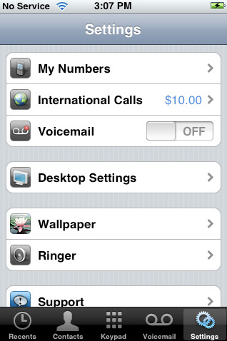 iCall settings, VOIP phone calls over 3G, iPhone app, iPad