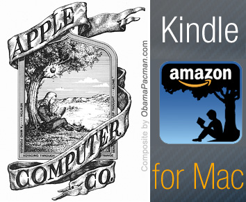 Amazon Kindle Mac eBook App pays homage to Apple computer history