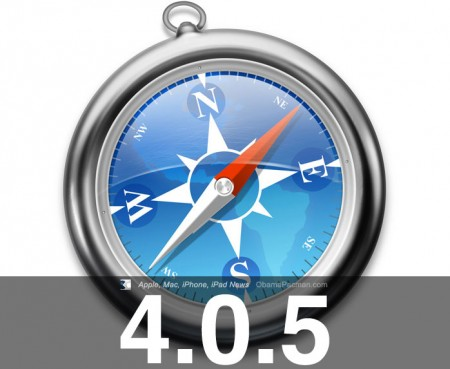 Apple Safari 4.0.5 web browser update