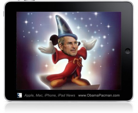 Apple iPad Magical Disney Fantasia Mickey Spoof, Photoshop by OP Editor