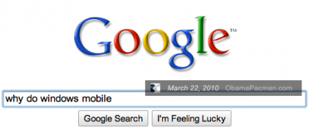 google search query suggestions why do Windows Mobile