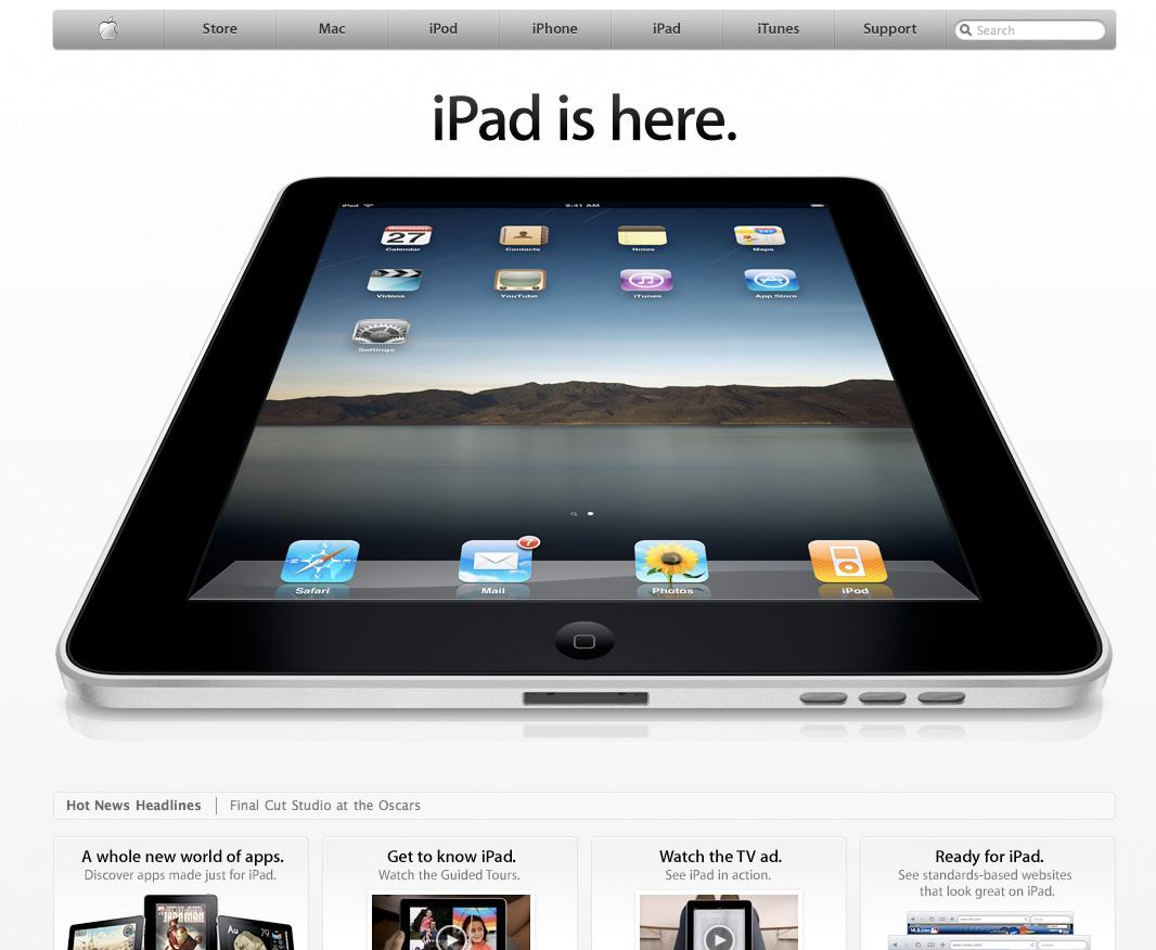 Apple: iPad is Here!