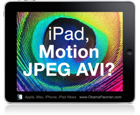 Apple iPad Motion JPEG AVI