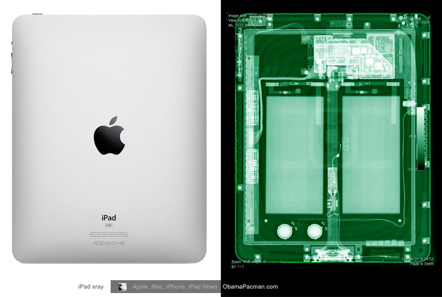 back side apple ipad tablet x ray obama pacman. Black Bedroom Furniture Sets. Home Design Ideas