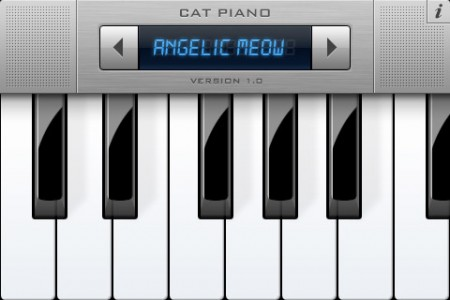 Cat Piano, Angelic meow, Apple iPhone iPad app