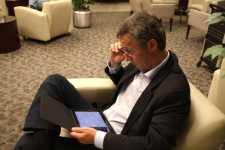 Celebrity iPad user, Norway Prime Minister, Jens Stoltenberg