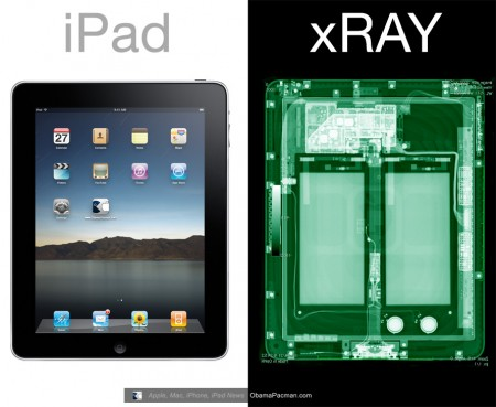 Front side, Apple iPad tablet X-Ray