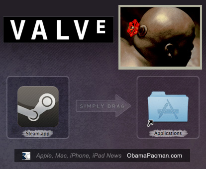 Install screenshot, Valve Steam Game Platform Beta for Apple Mac OS X