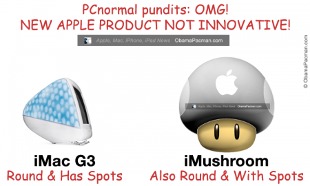New Apple iMushroom not innovative, similar to iMac G3