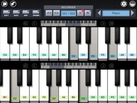 Pianist Pro App dual keyboards, Rana Apple iPad DJ Kit