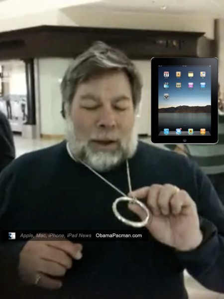 Steve Woz Demonstrates Laws of Physics, Magic Trick to Apple Store iPad Queue