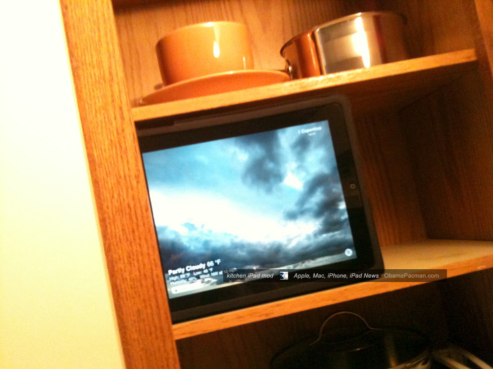 Diy Kitchen Ipad Cabinet Mod Install For Mother S Day