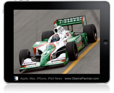 IndyCar Championship Race Car Driver Tony Kanaan Uses Apple iPad, During Races