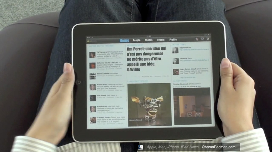review sobees ipad facebook app great start but updated obama