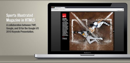 Sports Illustrated Magazine html5 demo Apple MacBook Pro